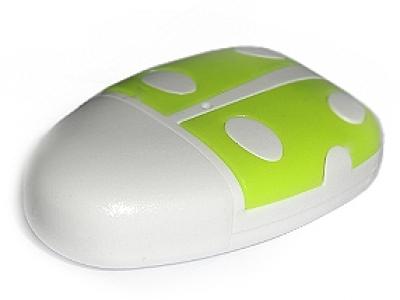 micro USB - OTG Card Reader miro SD - Green Ladybug