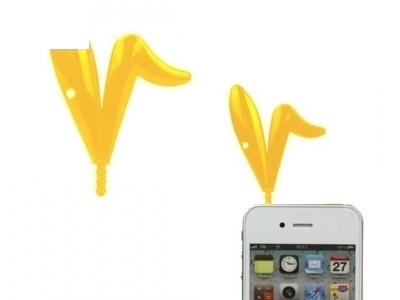 PVC УШИЧКИ НА ЗАЙЧЕ ЗА iPhone 4G / 4GS - Yellow
