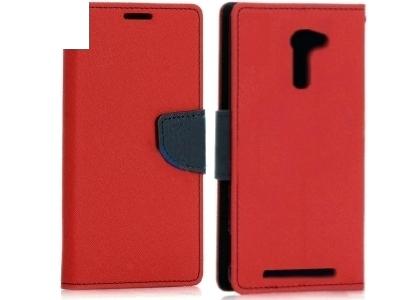 КАЛЪФ ТЕФТЕР Telone Fancy Case ЗА ASUS ZENFONE 2 ZE500CL 5-inch - Red / Dark Blue