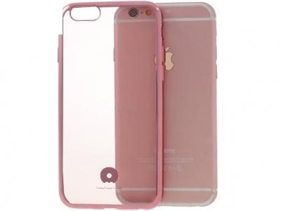 JLW ПРОЗРАЧЕН СИЛИКОНОВ ГРЪБ С РАМКА ЗА iPhone 6 Plus / 6s Plus 5.5-inch - Rose Gold