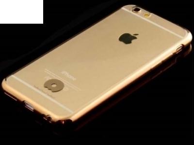 JLW ПРОЗРАЧЕН СИЛИКОНОВ ГРЪБ С РАМКА ЗА iPhone 6 Plus / 6s Plus 5.5-inch - Gold