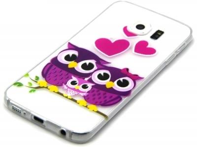 ПРОЗРАЧЕН СИЛИКОНОВ ПРОТЕКТОР ЗА SAMSUNG GALAXY S6 EDGE 2015 SM-G925F - Lovely Owl Family