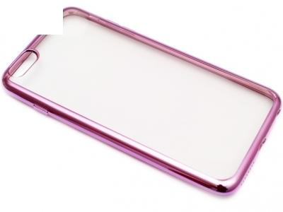 ПРОЗРАЧЕН СИЛИКОНОВ ПРОТЕКТОР С ЛАЙСНА ЗА iPhone 6 Plus 5.5-inch - Cyclamen