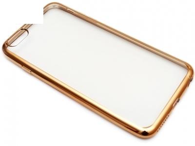 ПРОЗРАЧЕН СИЛИКОНОВ ПРОТЕКТОР С ЛАЙСНА ЗА iPhone 6 Plus 5.5-inch - Gold