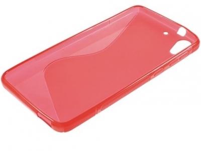 ПРОЗИРАЩ СИЛИКОНОВ ПРОТЕКТОР ЗА HTC DESIRE 728 - Red Transparent