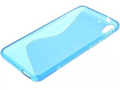 ПРОЗИРАЩ СИЛИКОНОВ ПРОТЕКТОР ЗА HTC DESIRE 728 - Blue Transparent