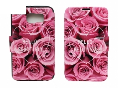 Калъф Тефтер Странично Отваряне 1105 - Samsung Galaxy S6 2015 G920 Hello Beautiful