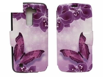 Калъф Тефтер Странично Отваряне за LG K10 2016, Пеперуда