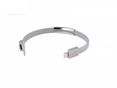 Кабел USB ГРИВНА 22cm за Iphone 5 / 5S / 5C / 6 / 6 Plus/ 7 / 7 Plus - GREY