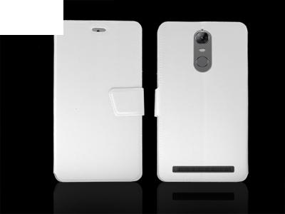 Калъф тефтер за  Lenovo K5 Note Бял