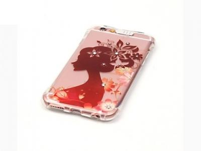 Ултра тънък силиконов протектор за iPhone 6s Plus/ 6 Прозрачен - Текстура - Момиче