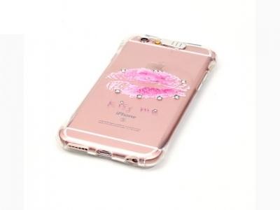 Ултра тънък силиконов протектор за iPhone 6s Plus/ 6 Plus Прозрачен - Текстура - Устни