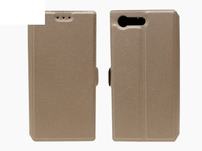 Тефтер странично отваряне - Telone BOOK POCKET Sony Xperia X MINI / COMPACT - Златен