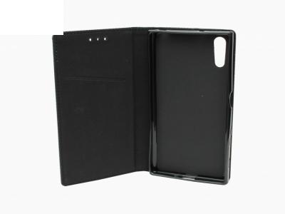 Тефтер странично отваряне - Smart Case Book Sony Xperia XZ - Черен