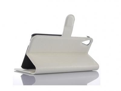 Калъф тефтер за HTC Desire 828 dual sim - White