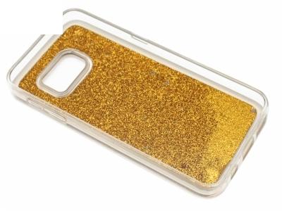 Силиконов Гръб за Samsung Galaxy S7 2016 G930 Liquid Stars - Злато