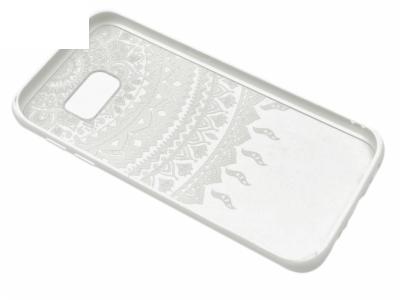Силиконов Гръб за Samsung Galaxy S7 Edge 2016 G935 , Бяла дантела