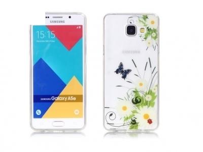 Силиконов гръб за Samsung Galaxy A5 2016 SM-A510F, Цветя и пеперуди