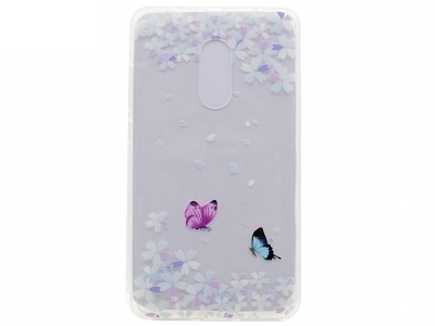 Силиконов протектор Lenovo K6 Note - Butterflies and Flowers