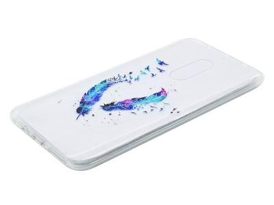 Силиконов протектор Lenovo K6 Note - Feathers Pattern