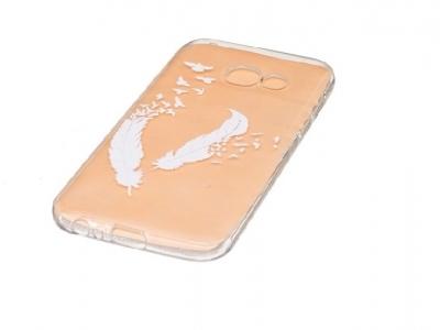 Прозрачен силиконов гръб с картинка за Samsung Galaxy A3 2017 - Feathers and Birds