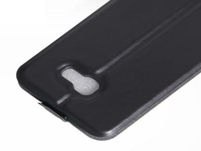 Кожен калъф със слот за снимка за Samsung Galaxy A3 (2017) - Black