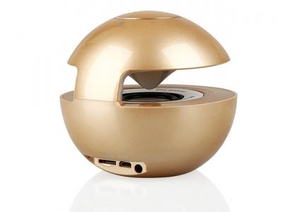Bluethooth Speaker LED BALL - Gold