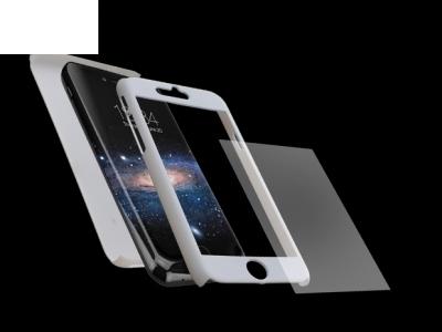 Калъф преден и заден PVC + Стъклен протектор за Iphone 7 / 8/ iPhone SE 2020, Бял