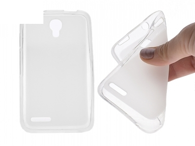 Double-sided Matte TPU Shell for Alcatel OneTouch Pixi 4 (3.5) - Transparent