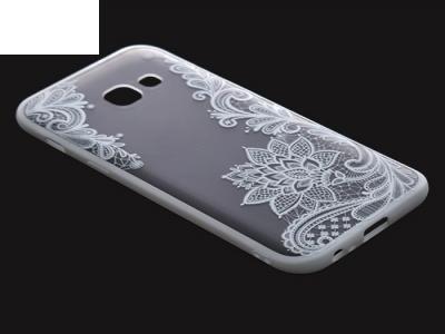 Пластмасов гръб със силиконова лайсна за Samsung Galaxy A3 (2017) A320 Бял