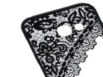 Пластмасов гръб със силиконова лайсна заSamsung Galaxy A3 2017 A320 - Модел 2 (Lace) Black