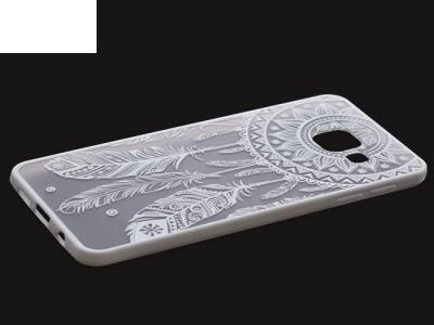 Пластмасов гръб със силиконова лайсна за  Samsung Galaxy А3 2016 А310 Бял