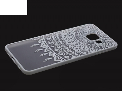 Пластмасов гръб със силиконова лайсна за Samsung Galaxy A3 2016 A310  - Бял