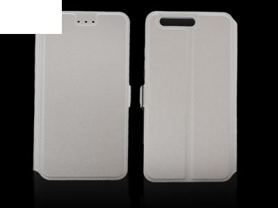 Тефтер странично отваряне за  Huawei P10 Бял