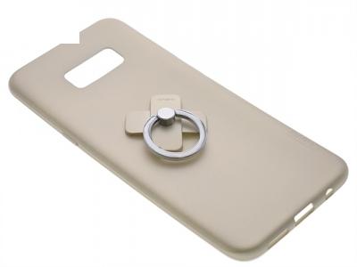 Калъф Гръб Силикон + пръстен за Samsung Galaxy S8 2017 (G950) Златист