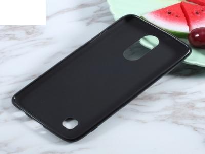 Силиконов матиран гръб за LG K4 2017, Черен