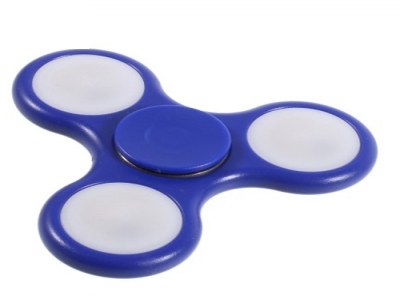 LED Light Fidget Hand Spinner Finger Toy for Stress Relief ADHD - Blue