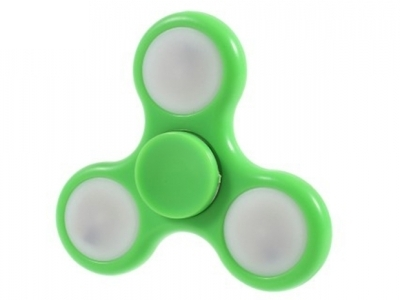 LED Tri-Spinner Fidget Toy Fidget Spinner High Speed Lasting Rotation for Stress Relief ADHD - Green