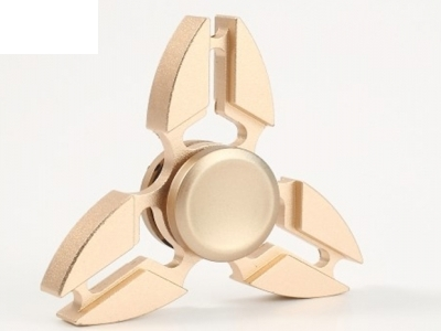 Aluminum Alloy Metal Hand Spinner Fidget Gyro Toy for ADD Stress Relief - Gold