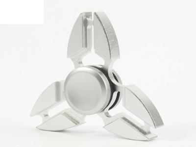 Aluminum Alloy Tri-Spinner Fidget Toy Hand Spinner EDC Focus Toy - Silver