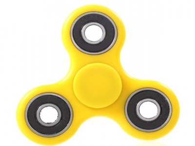 Hand Finger Spinner Tri Fidget EDC Focus Toy for ADHD Autism - Yellow