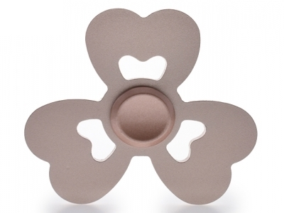 Heart Pattern Aluminum Alloy EDC Tri-Spinner Fidget Spinner for ADHD Anxiety and Boredom - Rose Gold