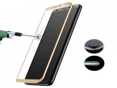 Стъклен протектор 3D Full Curved за Samsung Galaxy S8 2017, Златист