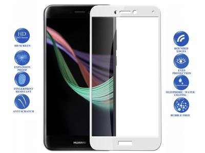 Стъклен протектор за Huawei P8 lite 2017 / P9 lite 2017 Бял