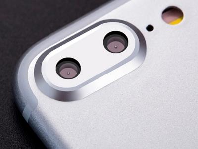 Метален протектор за Apple iPhone 7 Plus, Сребрист