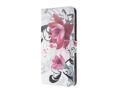 Калъф тефтер за Magnet Huawei Y7 2017, Цветя