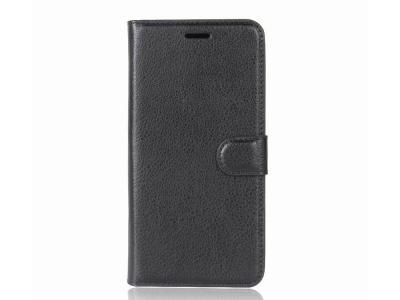 Калъф Тефтер Litchi Skin за Motorola Moto G5S , Черен
