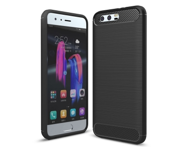 Силиконов Калъф Carbon за Huawei Honor 9, Черен
