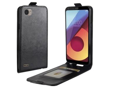 Калъф тефтер Crazy Horse за LG Q6 / Q6 Plus, Черен