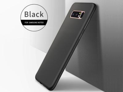 Силиконов матиран гръб  X-LEVEL за Samsung Galaxy Note 8 2017 N950, Черен